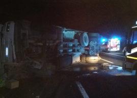 Valmontone, due camion tamponano sulla A1, 4 feriti e 8 km di coda