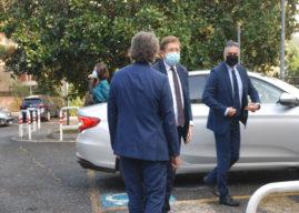 Genzano, il viceministro alla Salute, Sileri, in visita alla Rsa Covid