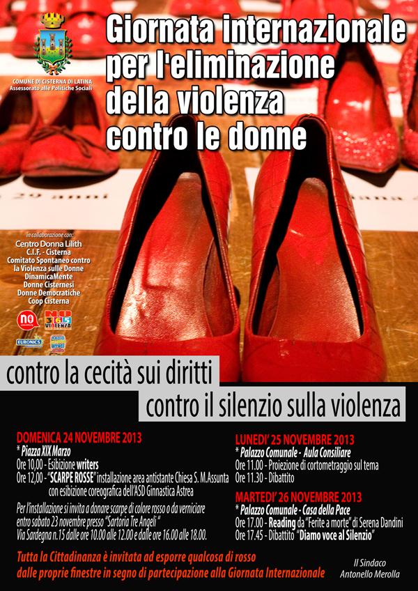 cisterna per dire no alla violenza sulle donne anche una marcia silenziosa delle scarpe rosse la notizia oggi