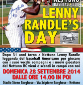 "Nettuno Baseball Club presenta il ""Lenny Randle Day"""