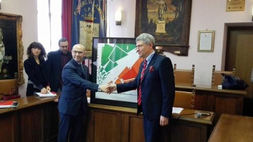 Il Sindaco Luigi Galieti con il Dott. Angelo Paletta