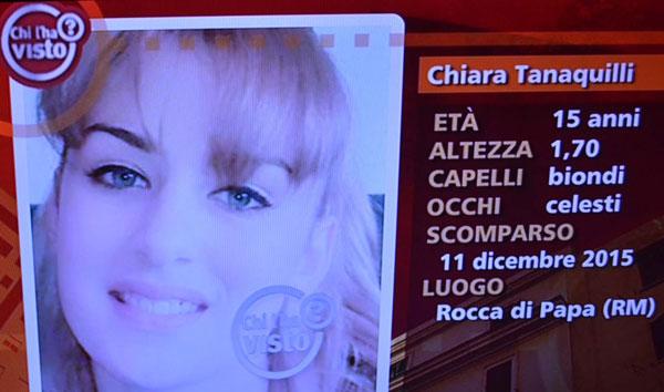 Rocca di Papa, ritrovata la 15enne Chiara Tanaquilli