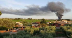 Incendio alla discarica di Roncigliano. Una nube tossica sta invadendo i Castelli
