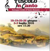 I cori del territorio si esibiscono al teatro romano del Tuscolo