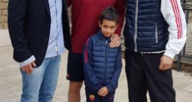 Grottaferrata calcio Stefano Furlani (I cat.), Totti mantiene la promessa e riceve il piccolo Alex