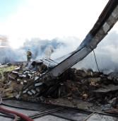 Ariccia, distrutto da un incendio un capannone di materiale elettrico