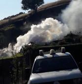 Incendio a Rocca Priora minaccia un'abitazione