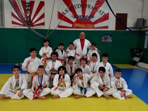 judo-frascati-alcuni-dei-partecipanti-a-monterotondo