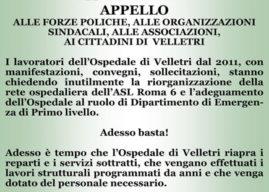 """Ospedale di Velletri, i dipendenti sul piede di guerra: """"la struttura sta al collasso"""""""